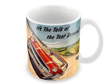 1956 Pontiac Chieftain Advert Ceramic Coffee Mug    Free Personalisation