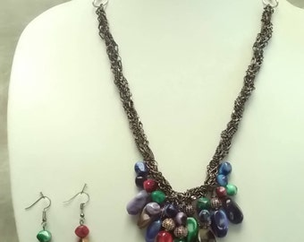 Braided chain necklace....