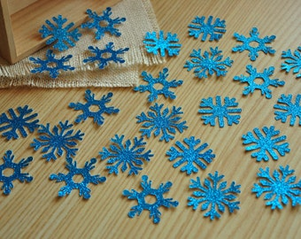 Frozen Birthday Party Decoration Confetti 25Ct.  Handcrafted in 2-5 Business Days.  Light Blue Glitter Snowflake Confetti.