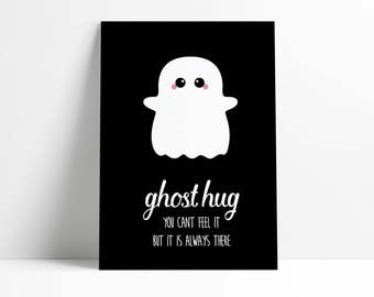 Postcard Ghost Hug