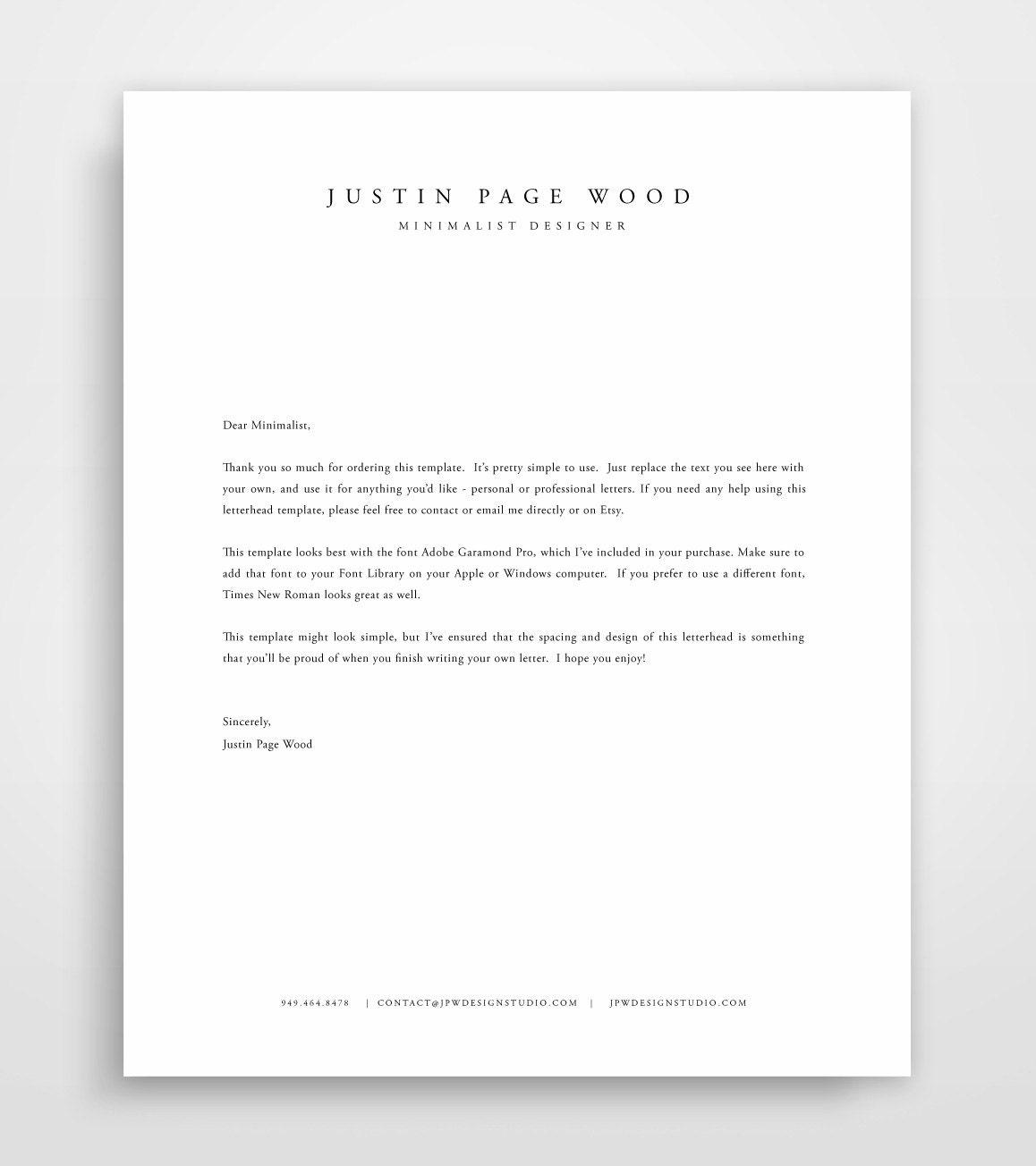 Letterhead Template Business Letterhead Letterhead Design