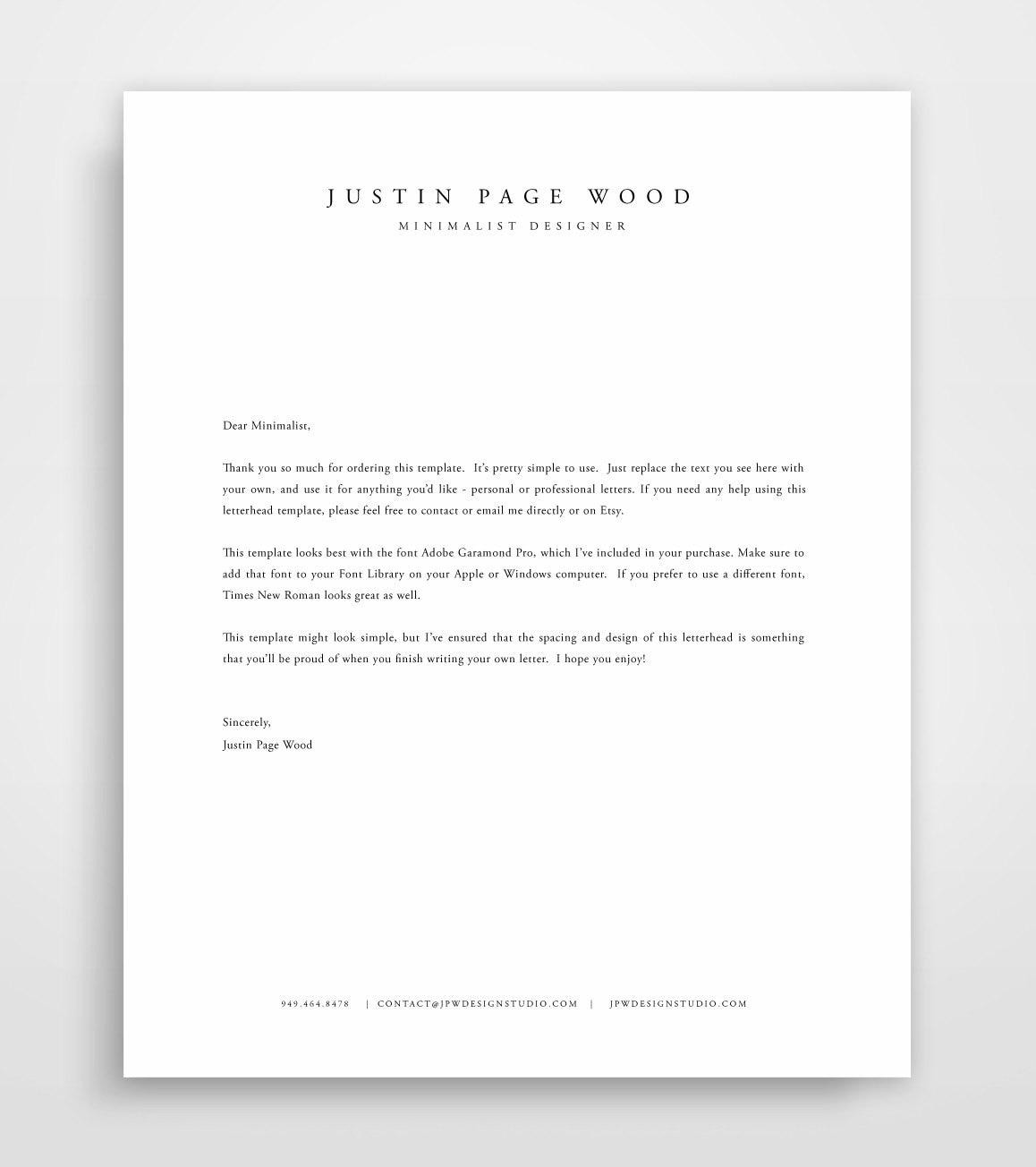 make your own letterhead