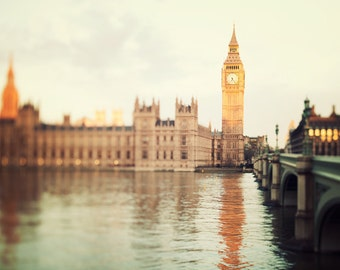 "London Skyline, London Photography Print, Big Ben, London Art, Architecture Print, Travel Photography ""Good Morning London"""