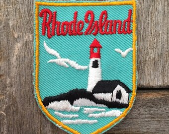 Rhode Island Vintage Souvenir Travel Patch from Voyager