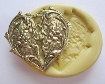 Heart Silicone Mold Resin Soap Wax Fondant Mold