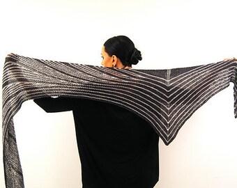 ELECTRIUM Knitting Pattern PDF Fingering Weight Shawl