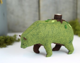 Little Dreamer Bear / Soft Sculpture Bear / Textile Art Bear / Grizzly Bear Art / Fantasy Creature
