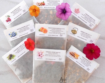 Tea Samples, Organic, Loose Leaf Samples, YOU CHOOSE 6, Trial Size, Free Sample, Handcrafted Teas, Hot Tea, Gift Ideas, Healthy Living
