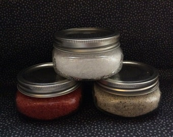 Mix-and-Match Homemade Bath Salts and Foot Scrub (Pair)