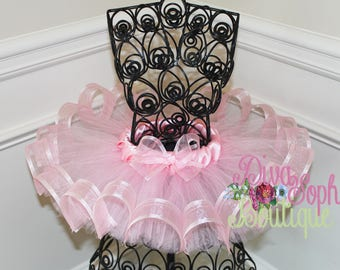 Pink Shimmery Ribbon Tutu