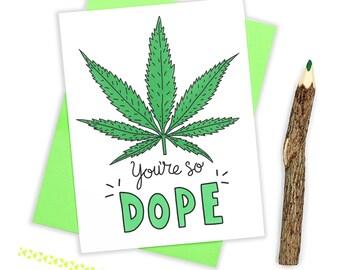 Weed Birthday Card, Marijuana Card, Stoner Card, Cannabis, Funny Greeting Card, Dope, I Like You, Boyfriend, Bestie Card, Girlfriend Card