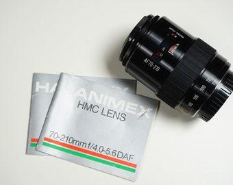 Hanimex HMC 70-210mm zoomlens for Sony/Minolta, like new!