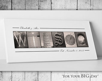 Wedding Guest Book // Custom Wedding Guest Book // Personalized Wedding Gift // Gallery Wrapped Canvas