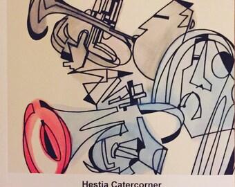 Hestia Catercorner 6 x 6 book of illustrations