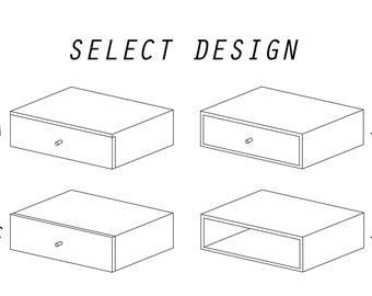 Floating nightstand / drawer
