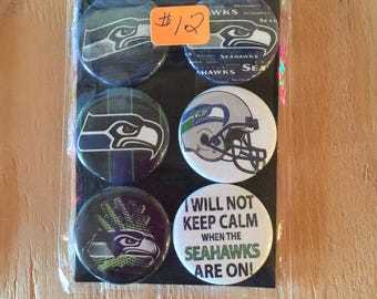 "1.25"" Button Magnets - Seattle Seahawks"