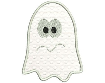 Scared Ghost Halloween Applique Machine Embroidery Designs 4x4 and 5x7 Included - Instant Download Sale
