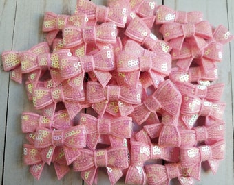 Pink Sequin Bows.