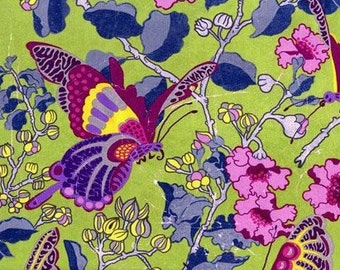 End of Bolt- 1 Yard of Melissa White Fairy Tale Garden Butterfly Revival MW 04 Vibrant