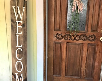 Welcome - Farmhouse Decor - Porch Sign -Custom Wood Sign