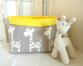 Nursery storage basket (wide) taube and yellow