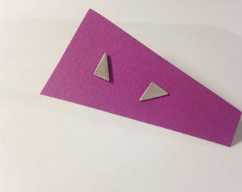 Triangle Sterling Studs