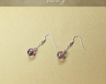 Gemstone Ametrine earrings, Ametrine dangle earrings, 925 Sterling Silver hooks, Chakra earrings, Chakra jewelry, InfinityCraftArts