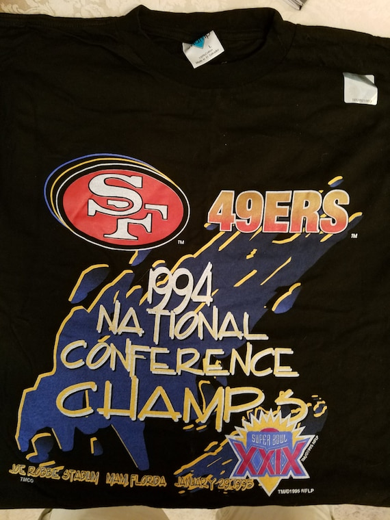 SF 49er's 1994 National Conference Champs New Large Unisex T Shirt WhVLoqRceS