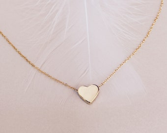Gold Heart Necklace, Dainty Necklace, Minimalist Necklace, Heart Necklace, Charm Necklace, Minimalist Necklace, Gold Necklace, Tiny Necklace