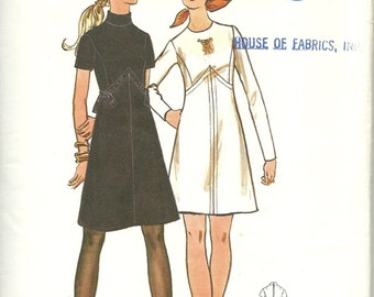 Butterick Pattern 5942   Misses One-Piece Dress   Size 12