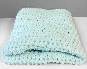 Mint Baby Blanket, Crochet Baby Blanket, Car Seat Blanket, Stroller Blanket, Newborn Gift for boy or girl