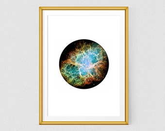 Galaxy art  Printable poster Hubble Telescope Space Prints Minimalist print Nebula print Space poster