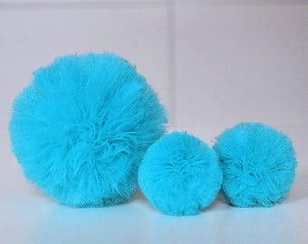 Set of Pom Poms for Tulle Baby Mobile, Customize Mobile,Tulle Pom Pom, Choose Colors, Exchange Set for Crib Mobile