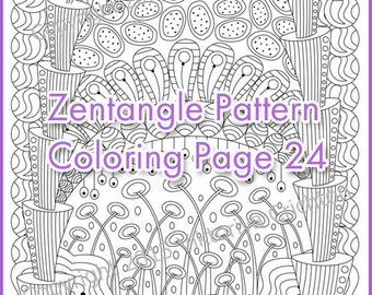 Coloring page adult and children , PDF zentangle pattern, printable art tangle inspired