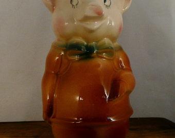 Vintage Royal Copley Piggy Bank,Pig Bank,Collectible,Pig Lover,Collector,Bank Collector