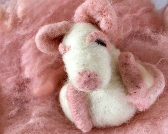 Sweet Soft Sleeping Baby Mice Felted and Filled with Fragrant Catnip for Your Favorite Kitty