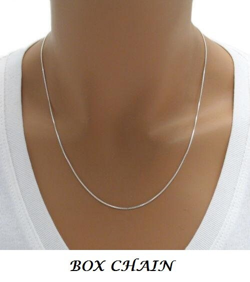 necklace chain chains silver box sn solid sterling