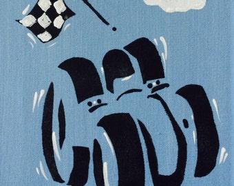 Boys Rooms, Boys Room Art, Race Car Art, Kids Room Decor, Original Art, Boys Nursery, Baby Gifts, Childrens Wall Art, Playroom Ideas