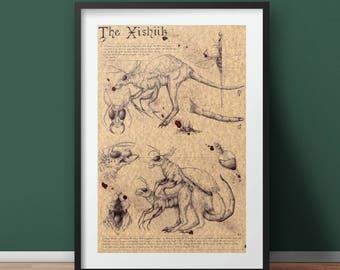 Large - Xishiik - Original Creature Art Print