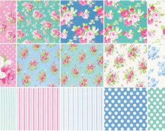 Sadie's Dance Card By Tanya Whelan for Free Spirit Floral  Fat Quarter Bundle 21 in Bundle