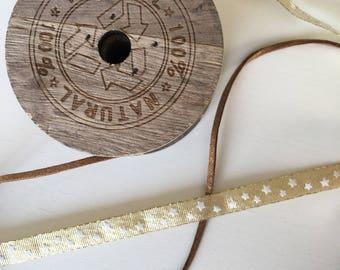 Pair of gold Christmas ribbons