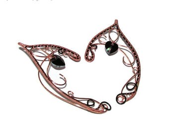 Heart of the Forest unisex elf ears, ear jewelry for wood elf costume, elf ears for her, elf ears for him, elvish jewelry for fantasy lovers