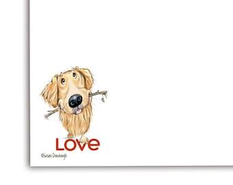 Love Gift for Golden Retriever| Notepad | Golden Retriever |  Valentine's Day | Pet Gift
