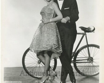 The Shyrettos circus bicycle act antique photo