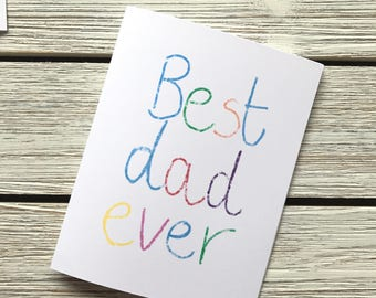 Best dad ever // best dad // fathers day card // cute fathers day card