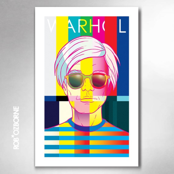 ANDY WARHOL 15 Minutes of Fame Pop Art Print 11x17 by Rob Ozborne