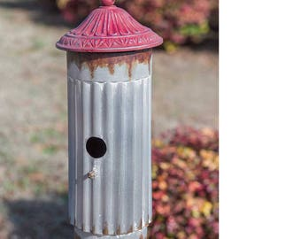 Birdhouse with Red Roof