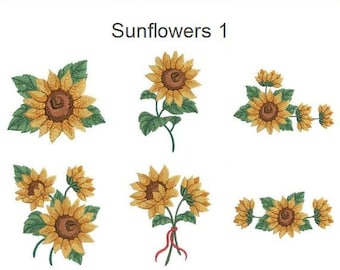 Sunflowers Machine Embroidery Designs Pack Instant Download 4x4 Hoop 10 SHE1765