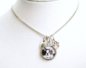 Dog charm necklace etsy pet memory gift pet loss of dog or cat loss sympathy gift for loss of pet mozeypictures Gallery