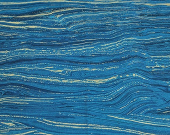 Artisan Sandscapes-Dark Bahama Blue Cotton Fabric (20474) by Deborah Edwards for Northcott Studios